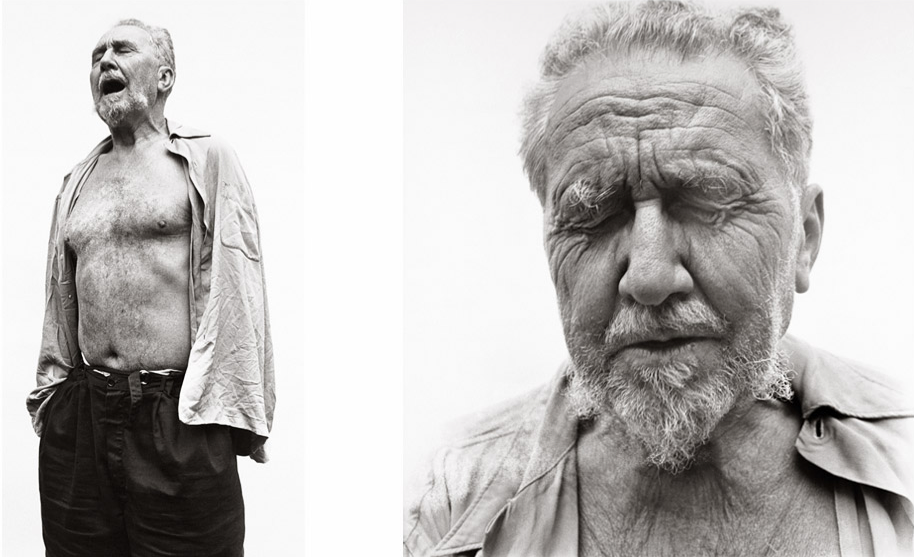 [Ezra Pound at William Carlos Williams' house in 1958 by Richard Avedon]