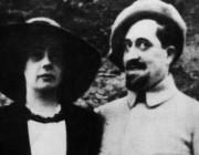 Guglielmo Alberto Wladimiro Alessandro Apollinare de Kostrowitzky, aka Guillaume Apollinaire, with his fiancee, Madeleine Pagès, in 1916.