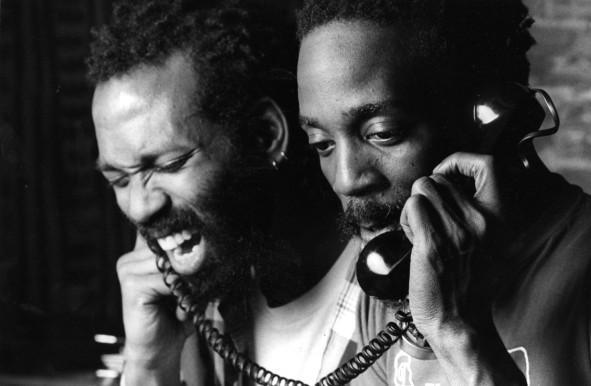 Essex Hemphill, right, performing with friend and collaborator Wayson Jones in 1986. (Daniel Cima)